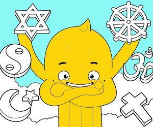desenhos de Religião para colorir e imprimir