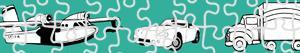 desenhos de Puzzles de Transportes para colorir