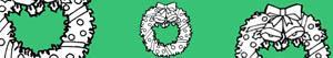 desenhos de Coroas e grinaldas do Natal para colorir
