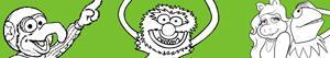 desenhos de Muppets para colorir