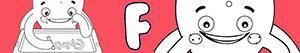 desenhos de Nomes de Menino com F para colorir