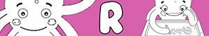desenhos de Nomes de Menina com R para colorir