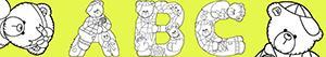 desenhos de Letras com ursos para colorir